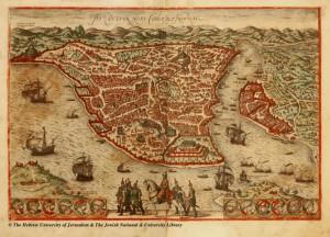 03-Braun-and-Hogenberg-Byzantium-nunc-Constantinopolis-Civitates-Orbis-Terrarum-1572-1024x739