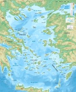 Carte de la Mer Égée
