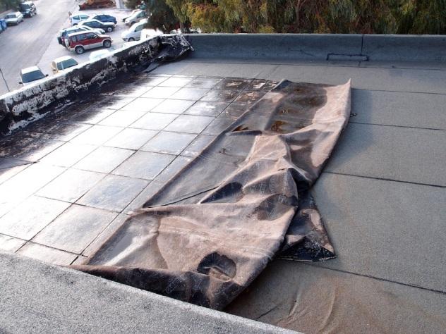 Η ταράτσα, χωρίς να έχει βρέξει ακόμα, ήταν γεμάτη από κρατημένη υγρασία που εκτιμάται ότι έχει προκαλέσει εκτεταμένες διαβρώσεις σε όλη την πτέρυγα του σχολείου