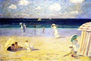 Clarence Cagnon Summer breeze at Dinard 1907. Quebecjpeg